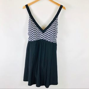 NWT Swimsuits for All Cross Back Swim Dress Suit